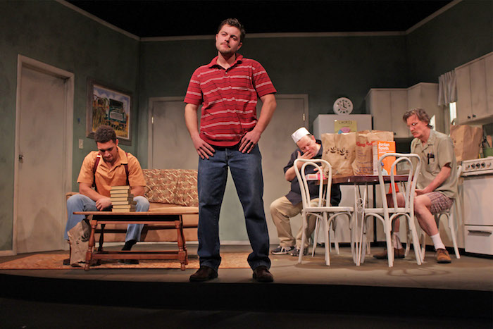 """Actors perform a scene from """"The Boys Next Door"""""""